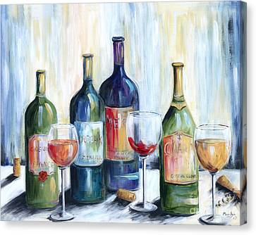 Wine Time Canvas Print by Marilyn Dunlap