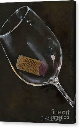 Wine With Dinner Canvas Print by Sheryl Heatherly Hawkins