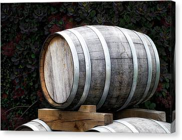 Winery Wine Barrel Canvas Print by Thomas Woolworth