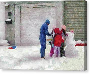 Winter - Re-constructive Surgery Canvas Print by Mike Savad