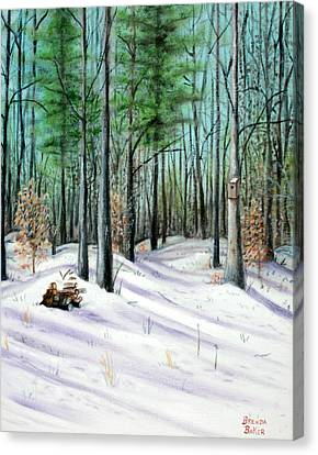 Winter Afternoon Canvas Print by Brenda Baker