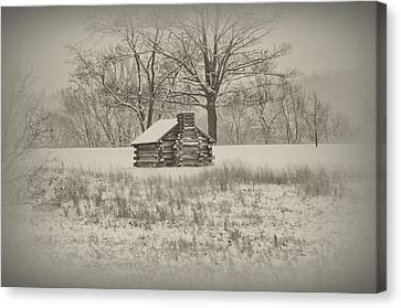 Winter At Valley Forge Canvas Print by Bill Cannon