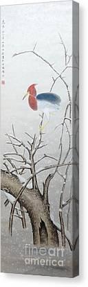 Winter Bird Canvas Print by Birgit Moldenhauer