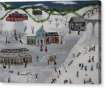 Winter Carnival Canvas Print by Lee Gray
