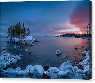 Winter Colors // North Shore, Lake Superior Canvas Print by Nicholas Parker