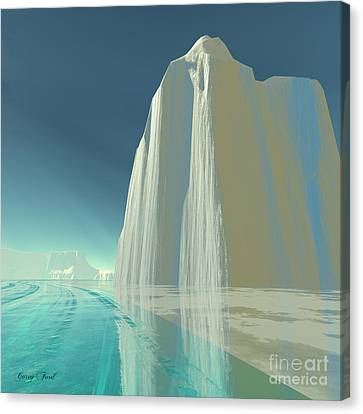 Winter Crystal Canvas Print by Corey Ford
