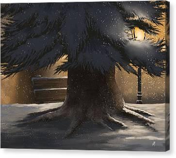 Winter Day Canvas Print by Veronica Minozzi