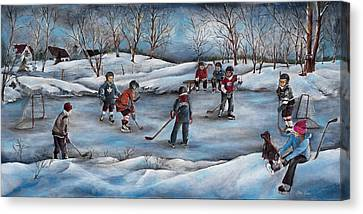 Winter Days Canvas Print by Patsy Cormier