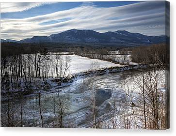 Winter In North Conway Canvas Print by Eric Gendron