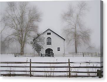 Winter In Whitemarsh Pa Canvas Print by Bill Cannon