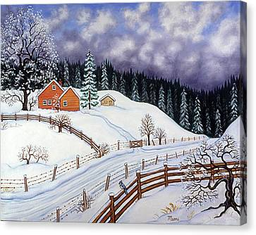 Winter Landscape Canvas Print by Linda Mears