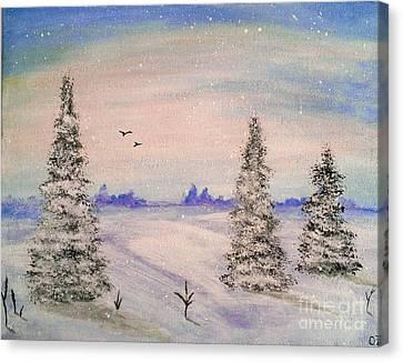 Winter Landscape Canvas Print by Olga Zavgorodnya