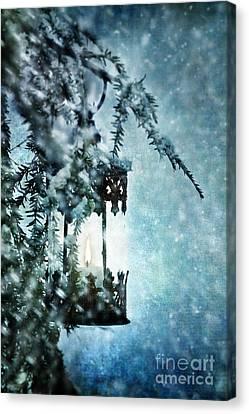 Winter Lantern Canvas Print by Stephanie Frey