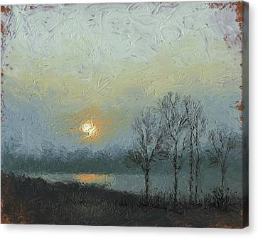 Winter Mist Canvas Print by Timothy Jones