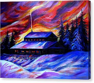 Winter Morning Canvas Print by Anna Duyunova