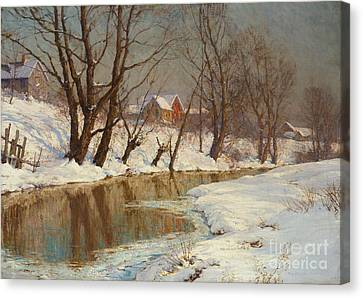 Winter Morning Canvas Print by Walter Launt Palmer