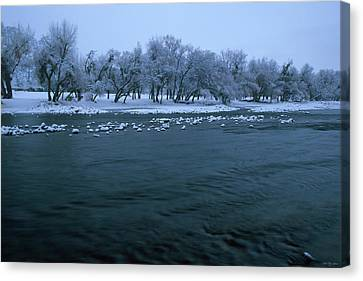 Winter On The Kern River Canvas Print by Soli Deo Gloria Wilderness And Wildlife Photography