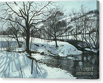 Winter River Canvas Print by John Cooke