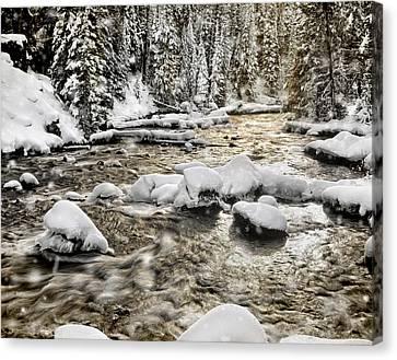 Winter River Canvas Print by Leland D Howard