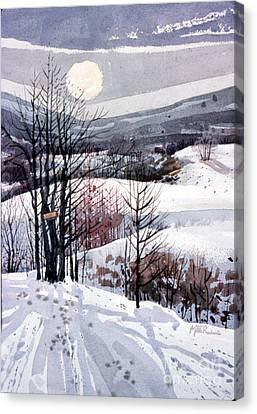 Winter Solstice Canvas Print by Donald Maier