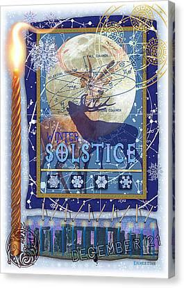 Winter Solstice Canvas Print by Ernestine Grindal