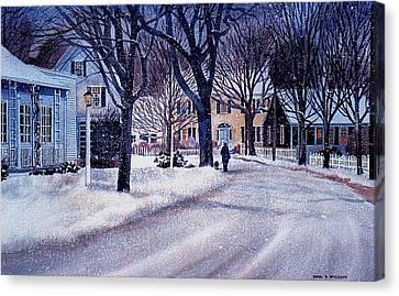Winter Stroll Canvas Print by Karol Wyckoff