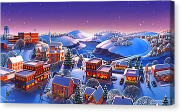 Winter Town Canvas Print by Robin Moline