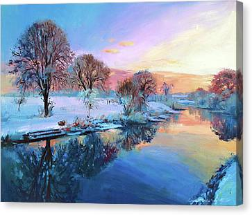 Winter Trees Canvas Print by Conor McGuire