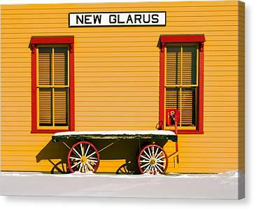 Winter Wagon Canvas Print by Todd Klassy