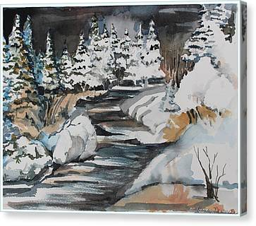 Winter White Canvas Print by Mindy Newman