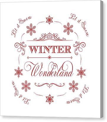 Winter Wonderland Let It Snow Canvas Print by Antique Images