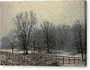 Winter's First Snowfall Canvas Print by Bellesouth Studio