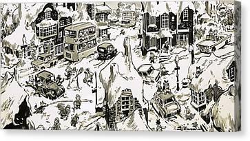 Winterscape Canvas Print by Jesus Blasco
