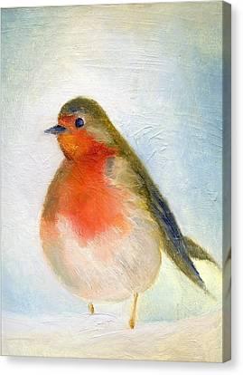 Wintry Canvas Print by Nancy Moniz