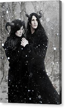 Wintry Wind Canvas Print by Cambion Art