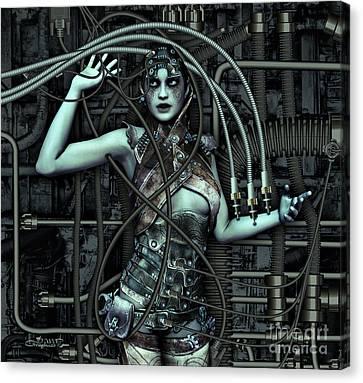 Wired Canvas Print by Jutta Maria Pusl