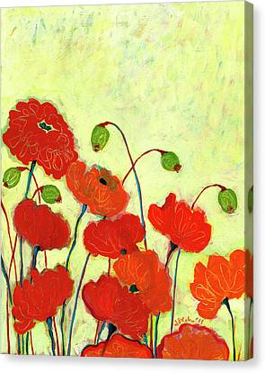 Wishful Blooming Canvas Print by Jennifer Lommers