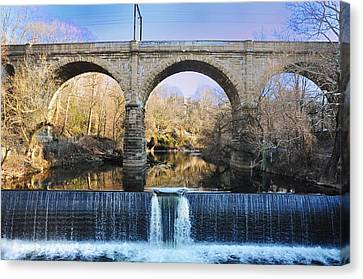 Wissahickon Viaduct Canvas Print by Bill Cannon