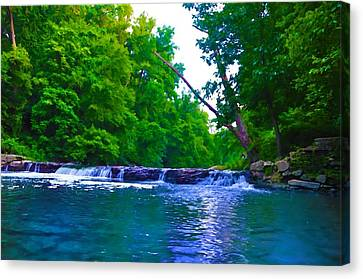 Wissahickon Waterfall Canvas Print by Bill Cannon