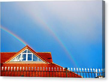 With Double Bless Of Rainbow Canvas Print by Jenny Rainbow
