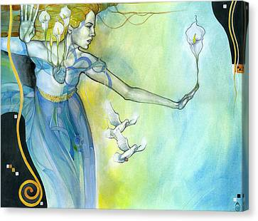 Witness Canvas Print by Patricia Ariel