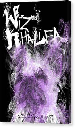 Wiz Khalifa Canvas Print by Kim Cyprian