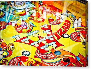 Wizard - Pinball Machine Canvas Print by Colleen Kammerer