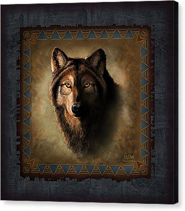 Wolf Lodge Canvas Print by JQ Licensing