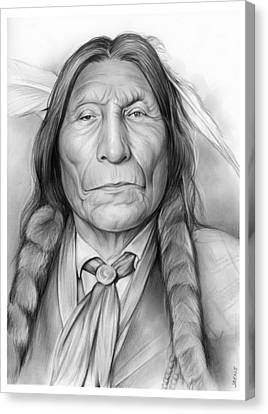Wolf Robe Canvas Print by Greg Joens