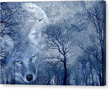 Wolf Canvas Print by Svetlana Sewell