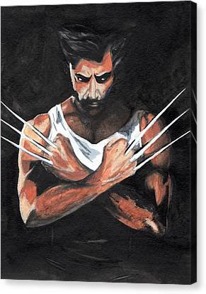 Wolverine Canvas Print by Pet Serrano