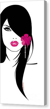 Woman 6 Canvas Print by Cheryl Young