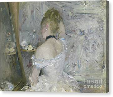 Woman At Her Toilette Canvas Print by Berthe Morisot