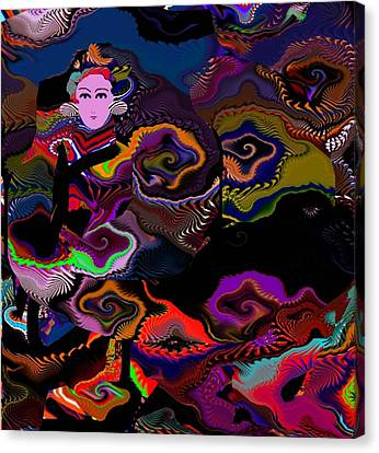 Woman From Distant Lands Canvas Print by Oksana Linde